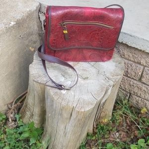 Relic bag -Paisley Embossed design